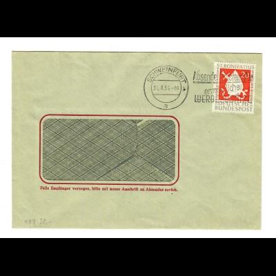 Brief aus Schweinfurt 1954