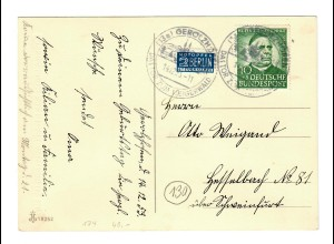 Glückwunschkarte 1953 Gerolzheim