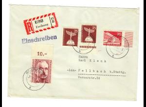 Einschreiben Freihung 1959 nach Fellbach