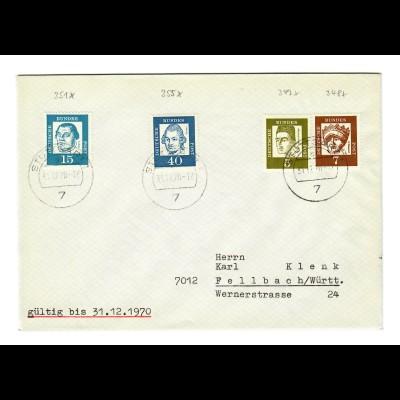 Brief 1970 aus Fellbach nach Stuttgart