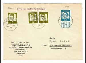 Brief aus Stuttgart 1970 nach Botnang