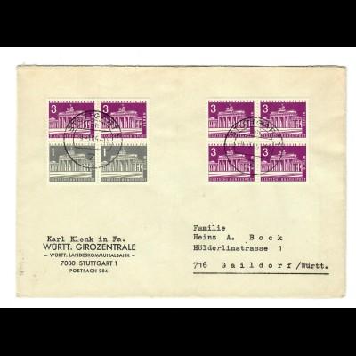 Brief aus Stuttgart nach Gaildorf 1965
