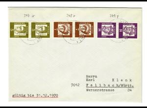Schöner Brief aus Stuttgart nach Fellbach 1970