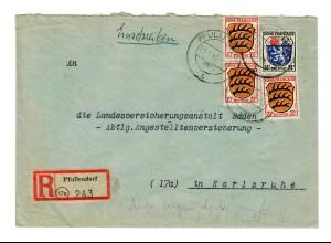 Einschreiben Pfullendorf 1947 nach Karlsruhe