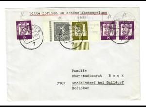 Schöner Brief aus Stuttgart nach Großaltdorf bei Gaildorf 1970