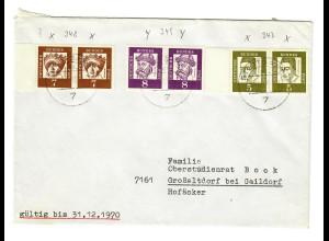 1970: Schöner Brief aus Stuttgart nach Großaltdorf bei Gaildorf