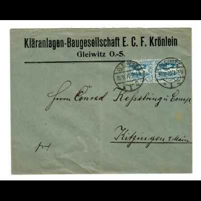 Kläranlagen-Baugesellschaft, Gleiwitz O.-S. 1926 nach Kitzingen