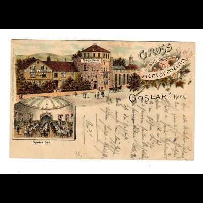 Ansichtskarte Gruss aus dem Achtermann, Goslar 1896 nach Detfurth