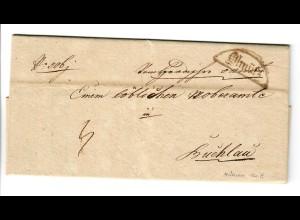 1836: Brief aus Ölmütz nach Buchlau