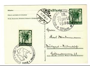 Propagandakarte Anschluss Österreich 1938