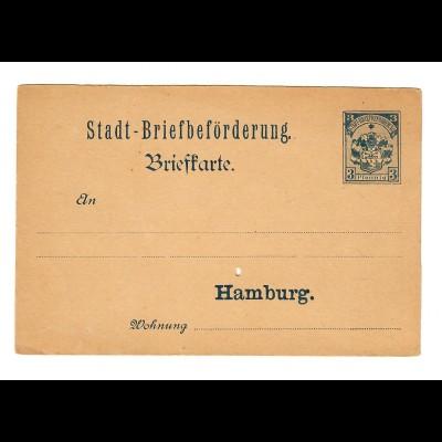 Postkarte Stadt-Briefbeförderung Hamburg