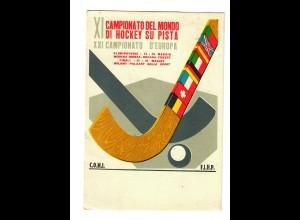 XI Campionato del Mondo di Hockey su Pista 1956, Bari to Frankfurt