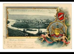 Ansichtskarte Dürrmenz 1900 nach Siegen