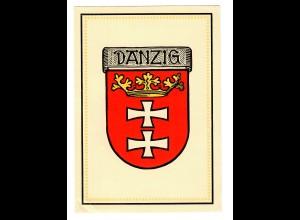 Danzig, Ansichtskarte mit Stadtwappen, ungebraucht