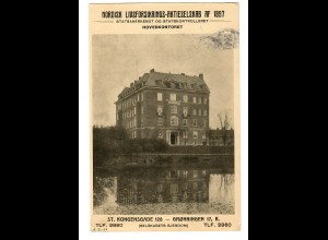 post card Gronningen, Malling 1917 to Kopenhagen, Werbekarte Versicherung