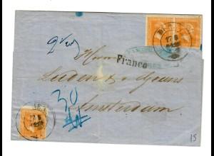 Brief aus 1861, Düren nach Amsterdam