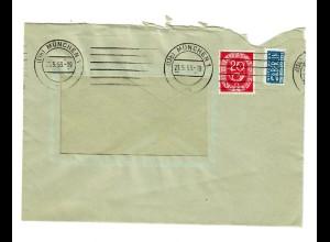Brief München 1953 mit Posthorn - PERFIN