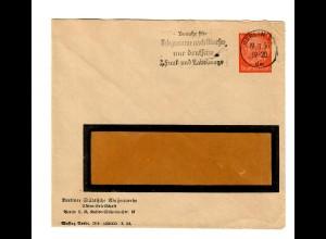 Ganzsache 6 Ah, Berlin Städtische Wasserwerke, Werbestempel Telegramme 1936