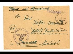 Feldpost 1944, FPNr. L55422, Bruneck Alpenvorland
