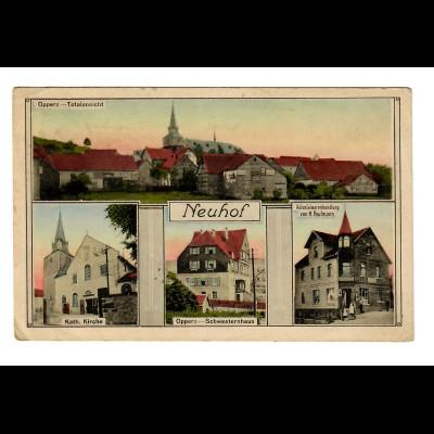 1918: Ansichtskarte Neuhof nach Frankfurt