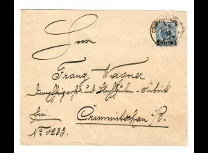 1892 Brief Konsulat Constantinopel nach Grimmitschau, BPP Signatur