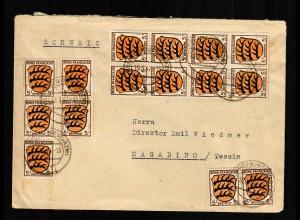 1947 MeF von Villingen nach Magadino/Tessin/CH