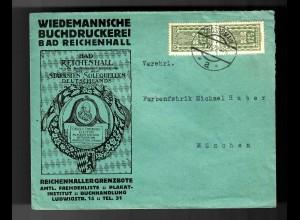 Buchdruckerei Bad Reichenhall, Werbund Zeitung, 1922 Grossgmain nach München