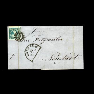 Brief von Landau nach Neustadt