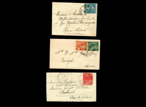France: 3x covers 1926-1932; Lens, ...
