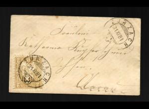 Brief von 1881 Zurzach nach Aarau, #20, kleiner Brief