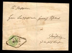 Brief aus Wien, Ortsbrief, MiNr. 19