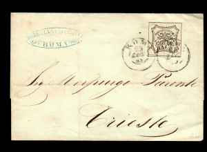cover from Roma to Trieste 1855, content bill, #9
