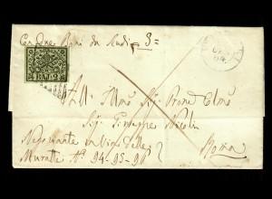 Vatikan: 1864 cover to Moma, italien handwriting text, #3