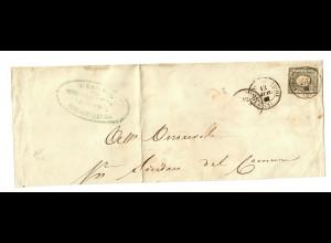 1861, cover Perugia, Terne, ..., cat. # 16, Sardinien