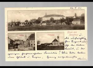 Ansichtskarte Gruss aus Zangberg/Mühldorf Inn 1902 nach Innsbruck