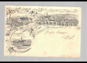 frühe Ansichtskarte Denkendof (Bayern) 1897 nach Spechtshausen/Sachsen/Tharandt