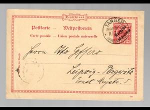 Postkarte Tanger 1900 nach Leipzig