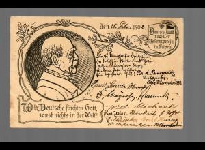 Postkarte 1902: Deutsch Sozialer Reformverein von Leipzig nach Bries/Glogau