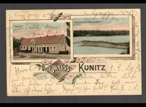 Ansichtskarte Gruss aus Kunitz/Fulverkrug (heute Polen) 1902 nach Rathenow