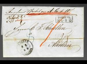 Paketbegleitbrief Forst/Lausitz 1889 nach Aachen