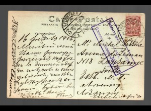 photo post card soldiers 1916 Petrograd to Lausanne/Switzerland