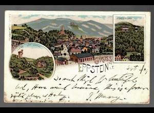 Ansichtskarte Gruss aus Eppstein i.Taunus 1904 nach London, forwarded