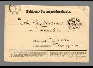 Feldpost Correspondenzkarte Sarran 1870 nach Dresden
