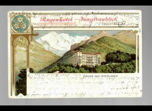 Ansichtskarte Gruss aus Matten b. Interlaken, Rugenhotel-Karte 1907 - Elberfeld
