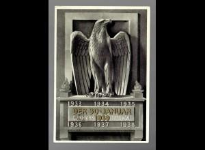 Propagandakarte 30.1.1939/Ostmark Sudetengau, Gründung III. Reich
