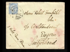 India: letter from Rangoon 1903 to Luzern/Switzerland