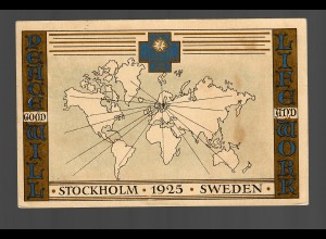 Schweden 1925: Stockholm - special cancel: Life and work, P47 Ia