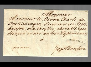 Brief D' Heilbronn nach Jagsthausen 1787
