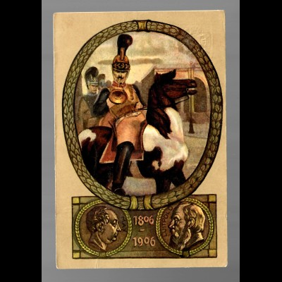 Jubiläums Postkarte/Ganzsache 1906 von Neu Ulm nach Bad Tölz