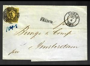 Brief 1856 von Coeln nach Amsterdam, MiNr. 4
